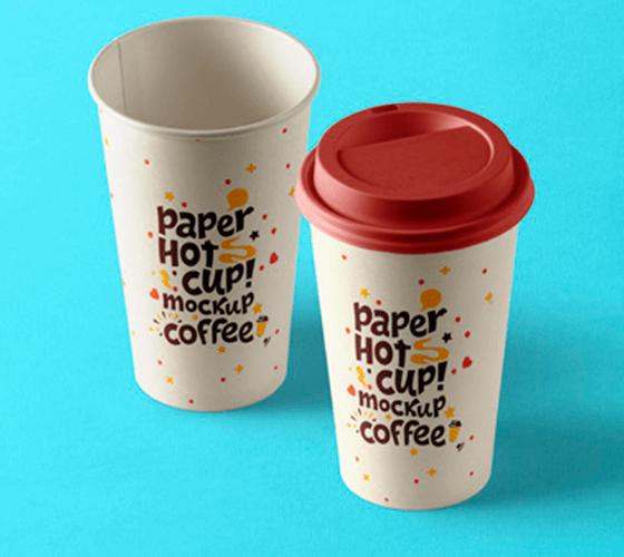 Mockup Copo de Papel Café