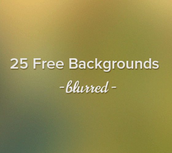 25 Blurred Backgrounds