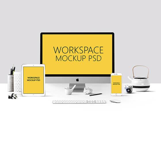 Mockup Área de Trabalho