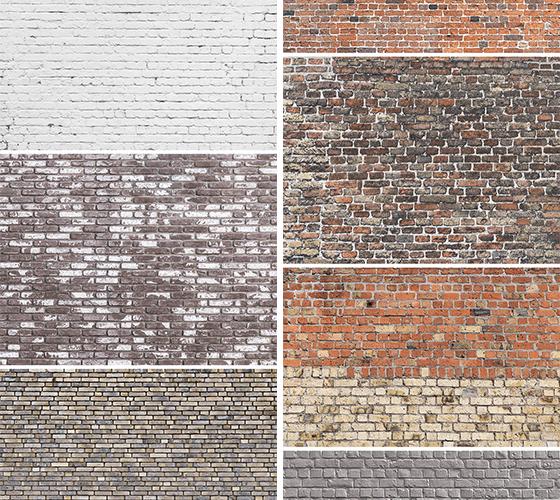 7 Texturas de parede de tijolo