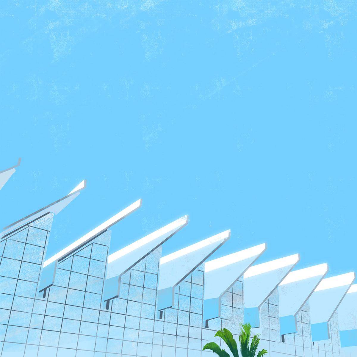 Ilustra es arquitet nicas minimalistas de edif cios - Edificios minimalistas ...