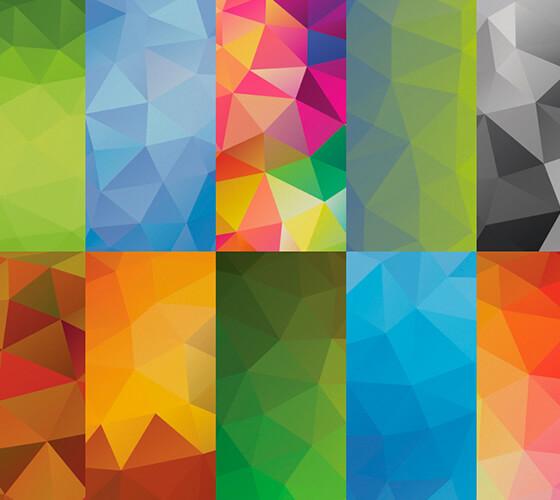 10 Backgrounds Geométricos