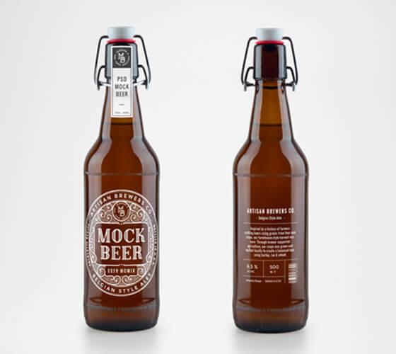 Mockup rótulo de cerveja