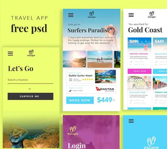 UI Kit App para viagens
