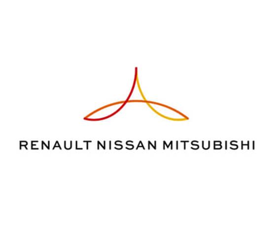 O novo logo para a aliança Renault-Nissan-Mitsubishi