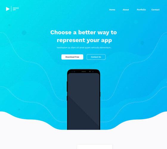Vibo Template Landing Page de Aplicativo