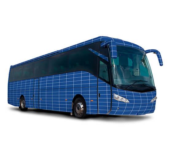 Mockup de ônibus