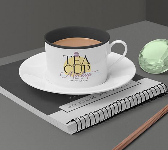 Mockup Xícara de chá