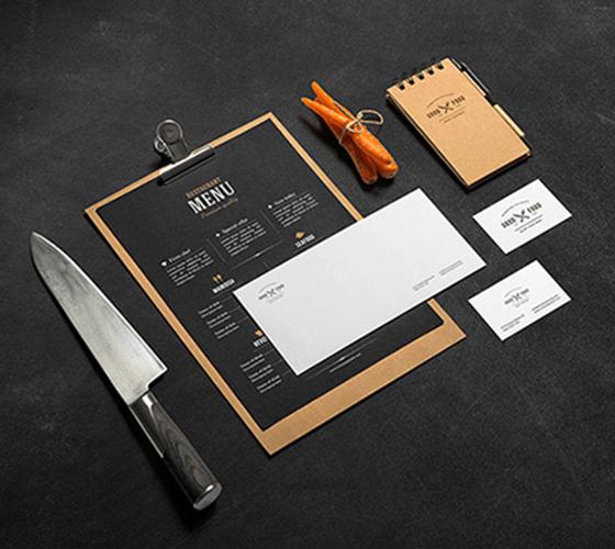 Mockup Branding Restaurante