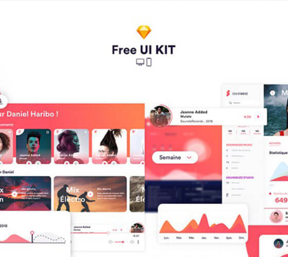 UI Kit App música Soundbuzz