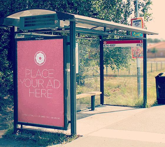 Mockup bus stop #2