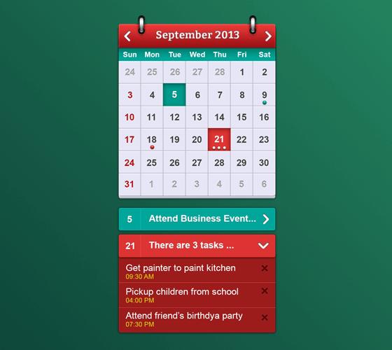 Widget calendário IOS