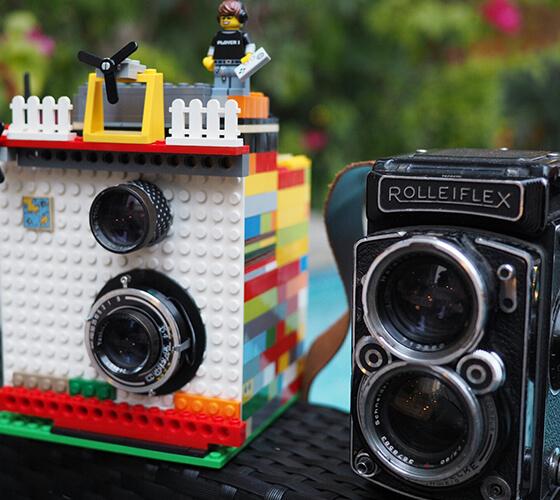 Câmera instantânea com LEGO