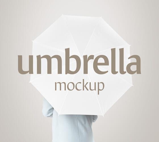 Mockup Guarda-chuva