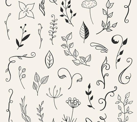 110 Vetores florais
