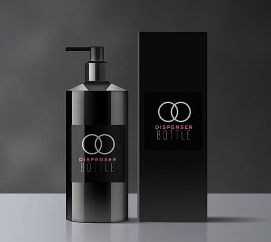 Mockup Embalagem de shampoo
