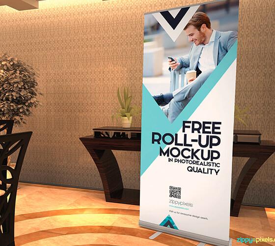 Mockup banner impresso #2