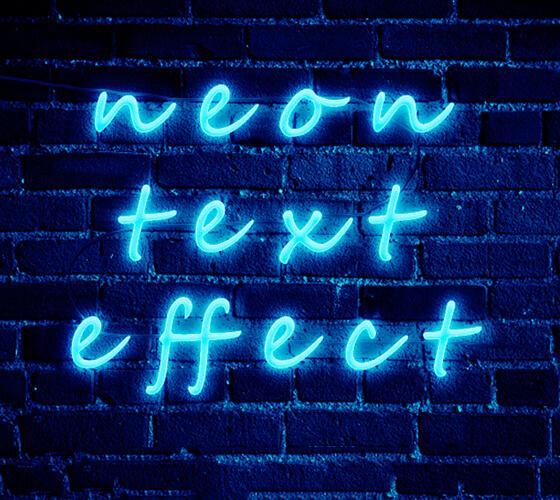 Efeito de texto Neon #2