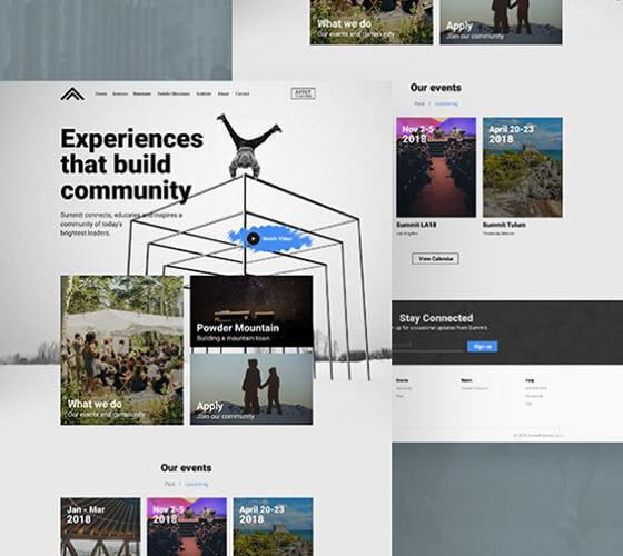 Template Landing page Eventos
