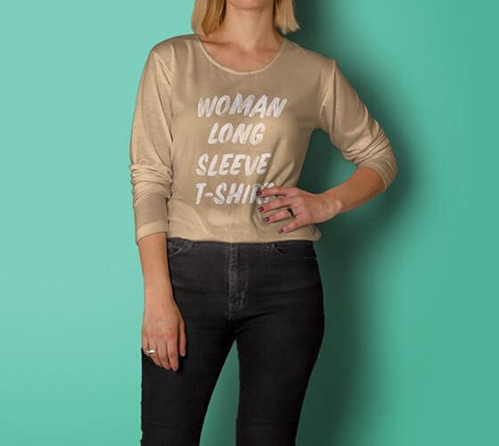 Mockup Camiseta feminina #7