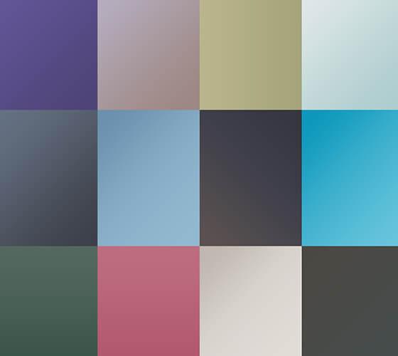 25 gradientes