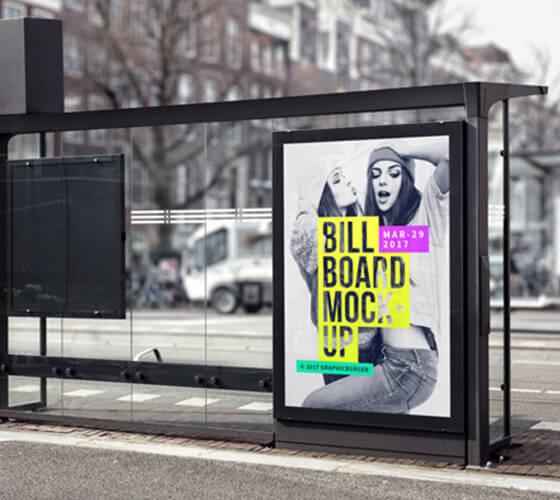 Mockup bus stop