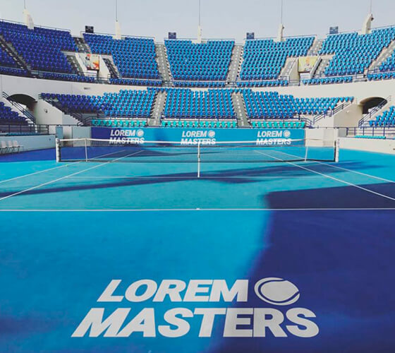 Mockup Quadra de tênis