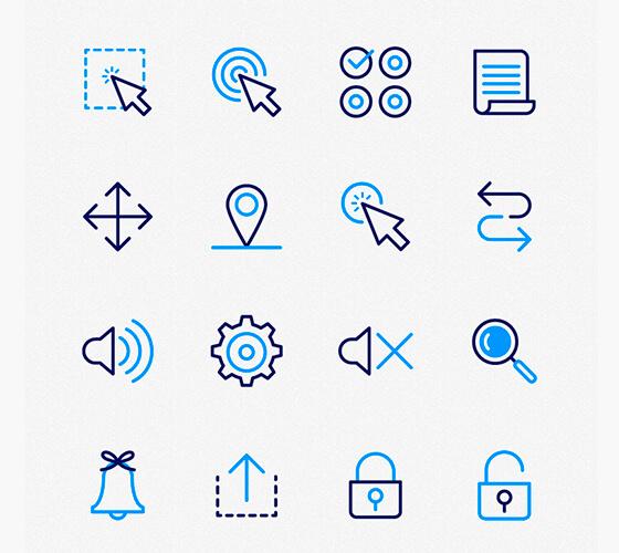 50 ícones de UX/UI