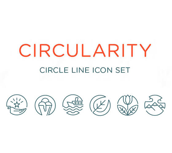 Line icons circulares