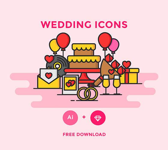 Ícones de casamento