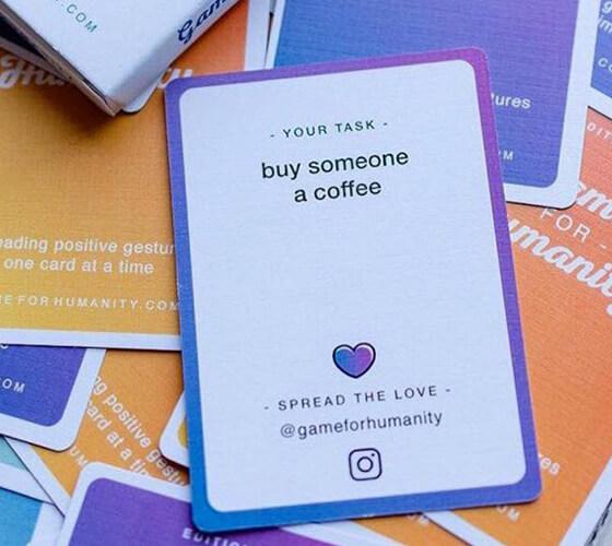 Um jogo de cartas para vibrações positivas