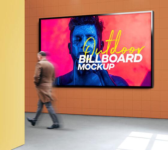 Mockup painel publicitário