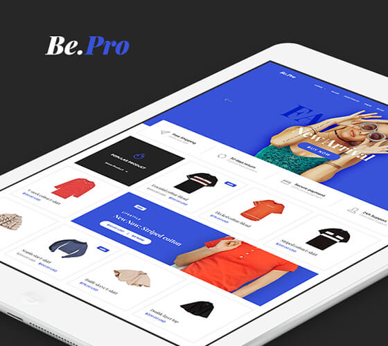 Template E-commerce de roupas