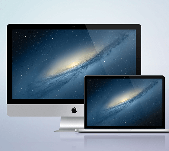 Mockup iMac + Macbook