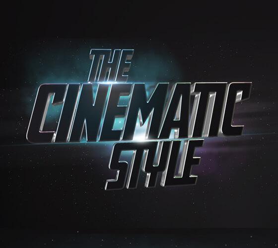 Efeito de texto Cinematic 3D