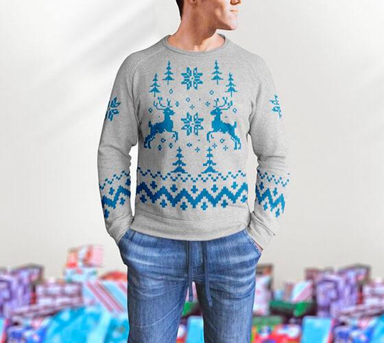 Mockup Suéter de natal