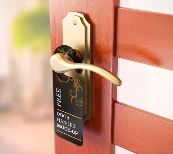 Mockup Aviso de porta #2