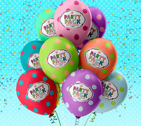 Mockup Balões de festa