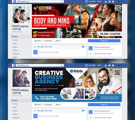 Templates Facebook cover
