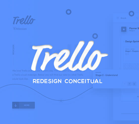 Trello Atlassian, redesign conceitual