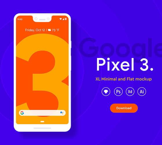 Mockup Pixel 3XL