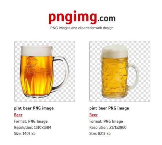 PngImg.com, um banco de imagens só com fundo transparente