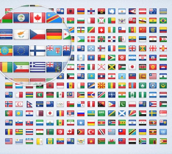2600 Ícones de bandeira