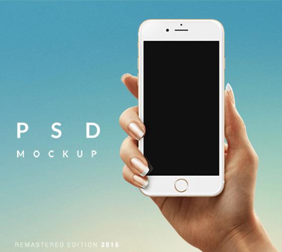 Mockup iPhone na mão