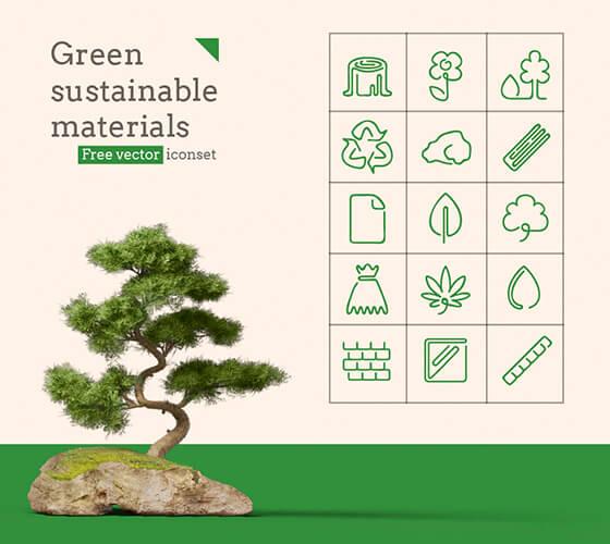 Ícones de sustentabilidade