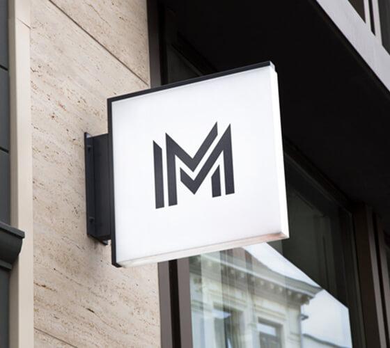 Mockup placa para fachada
