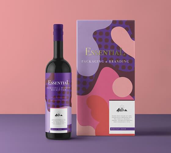 Mockup Garrafa de vinho #2