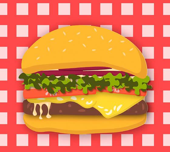 Vetor de hambúrguer