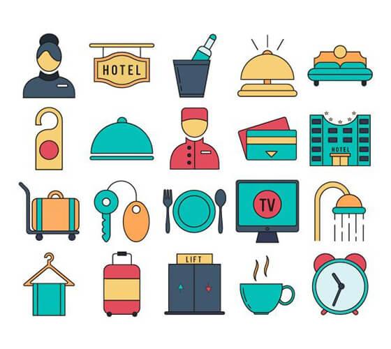 Ícones de hotelaria