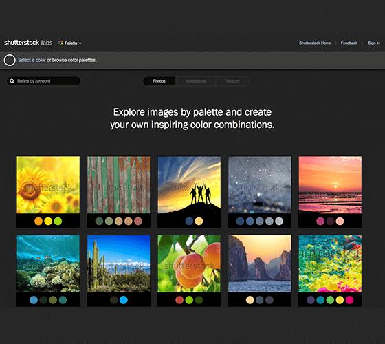 Como criar paleta de cores com as imagens do Shutterstock